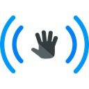 Hand, Target, ui, moving, Multimedia Option Black icon