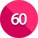 numbers, ui, Multimedia Option, Sixty Degrees DeepPink icon