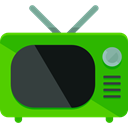Tv, screen, television, antenna, old, technology, electronics, vintage LimeGreen icon