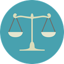 miscellaneous, law, judge, Balance, justice, Justice Scale CadetBlue icon