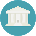 law, Court, justice, trial, Architecture And City CadetBlue icon