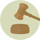 miscellaneous, hammer, law, auction, judge, justice, Bid, Verdict LightGray icon