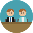 people, user, Avatar, law, lawyer, Court, trial, profession, Professions And Jobs CadetBlue icon