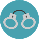security, Handcuffs, Policeman, Arrest, jail, Tools And Utensils, Prision CadetBlue icon