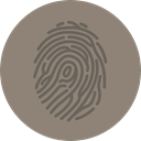 miscellaneous, interface, detective, Fingerprint, identification, evidence Gray icon