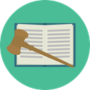 education, law, gavel, justice, Bible, Oath, Book CadetBlue icon