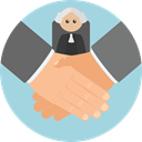 Hands And Gestures, Business, Agreement, Handshake, Gestures, Shake Hands, Cooperation LightBlue icon