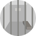 security, Prison, jail, criminal, Jailhouse, Custody LightGray icon