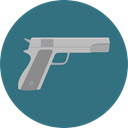weapons, evidence, security, Bag, Gun, investigation, pistol SeaGreen icon
