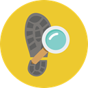 miscellaneous, footwear, evidence, Shoe Prints, detective, Feet, investigation, Footprints Goldenrod icon