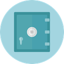 security, Business, Bank, savings, Safebox, banking, Tools And Utensils, Business And Finance LightBlue icon