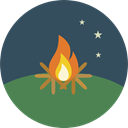 miscellaneous, hot, Burn, Flame, nature, Bonfire, Camping, campfire DarkSlateGray icon