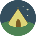 nature, Camping, Forest, Tent, Holidays, woods, rural DarkSlateGray icon