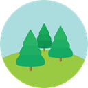 Tree, Clouds, nature, landscape, Forest, woods PowderBlue icon