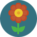 Flower, nature, petals, blossom, Botanical SeaGreen icon