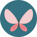 Animals, Moths, insect, butterfly SeaGreen icon