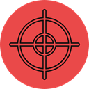 Target, shooting, sniper, weapons, Aim, gaming Tomato icon