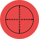 Aim, gaming, Target, shooting, sniper, weapons Tomato icon