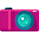 photography, technology, electronics, photograph, photo camera, Camera, photo MediumVioletRed icon