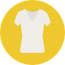 Shirt, Clothes, clothing, fashion, Garment Goldenrod icon