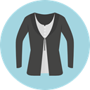Garment, Cardigan, Clothes, fashion, Femenine LightBlue icon