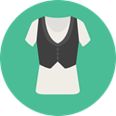 vest, Suit, clothing, fashion, Elegant CadetBlue icon