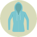 Clothes, clothing, sweatshirt, style, fashion, hoodie LightGray icon