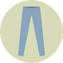Clothes, Jeans, trousers, fashion, pants, Garment LightGray icon