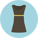 Clothes, clothing, dress, fashion, Elegant, Femenine, Garment LightBlue icon