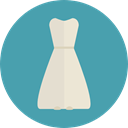 Clothes, clothing, dress, fashion, Elegant, Femenine, Garment CadetBlue icon