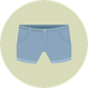 Clothes, clothing, dress, Short, fashion, Femenine, Garment, Denim Shorts LightGray icon