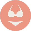 Bra, knickers, Femenine, thong, fashion, underwear, brassiere, panties, lingerie DarkSalmon icon