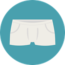 Clothes, fashion, underwear, Slip CadetBlue icon