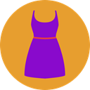 Clothes, clothing, dress, fashion, Elegant, Femenine, Garment Icon