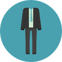 Suit, Clothes, clothing, wedding, fashion, groom, Elegant CadetBlue icon