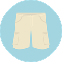 Clothes, trousers, Shorts, fashion, pants, Garment LightBlue icon