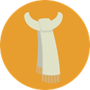 winter, Clothes, Scarf, fashion, Garment Goldenrod icon