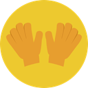 safety, Protection, gloves, glove, fashion Goldenrod icon