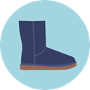 Boot, fashion, footwear LightBlue icon