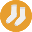 clothing, sock, socks, fashion, babies, Baby Clothing, Baby Clothes Goldenrod icon