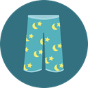 Clothes, trousers, fashion, pants, Garment SeaGreen icon