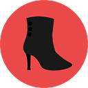 Boot, Clothes, fashion, heel, footwear Tomato icon