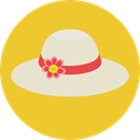 hat, summer, fashion, pamela Goldenrod icon