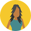 Avatar, Social, user, woman, profile Goldenrod icon