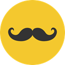 Facial Hair, Mustache Variant, Beauty, Mustache, fashion, hair, moustache Goldenrod icon