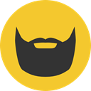 party, carnival, fashion, Beard, Costume, Facial Hair Goldenrod icon