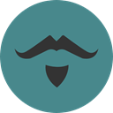 party, Facial Hair, carnival, fashion, Beard, Costume CadetBlue icon