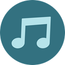 music, interface, music player, song, musical note, Quaver, Music And Multimedia SeaGreen icon