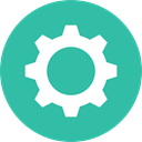 Gear, settings, configuration, ui, cogwheel, Tools And Utensils LightSeaGreen icon