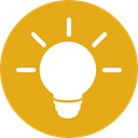 Idea, electricity, illumination, Light bulb, technology, electronics, invention Goldenrod icon